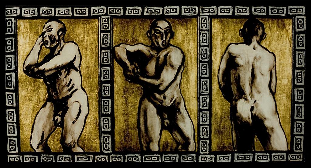 Sacha Schwarz - Oeuvres - Hommes : Trois hommes 1