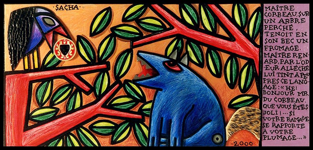 Sacha Schwarz - Oeuvres - Fables : Corbeau et renard