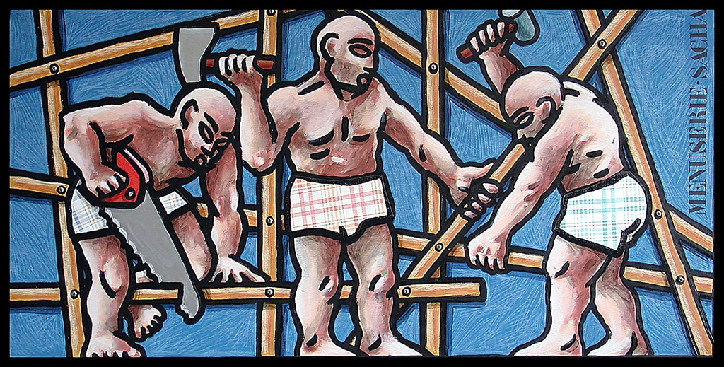 Sacha Schwarz - Oeuvres - Hommes : Menuiserie