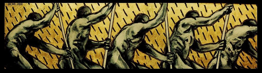 Sacha Schwarz - Oeuvres - Hommes : Rameurs 4
