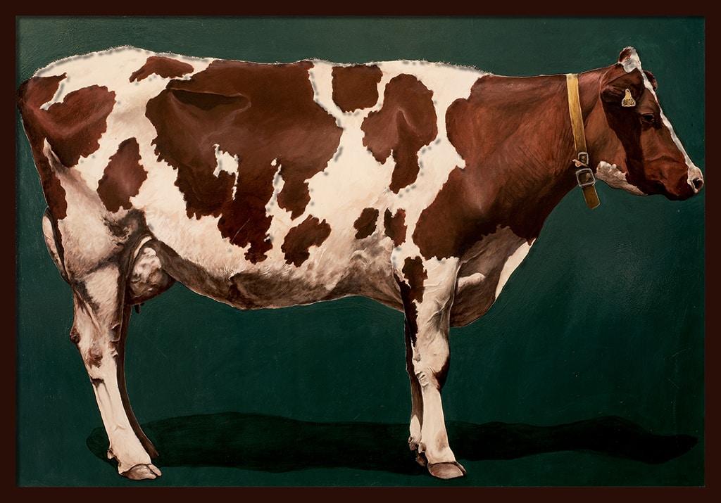Sacha Schwarz - Oeuvres - Vaches - Icones : Vache 3